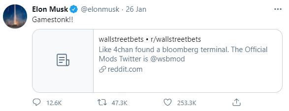 Elon Musk Gamestock